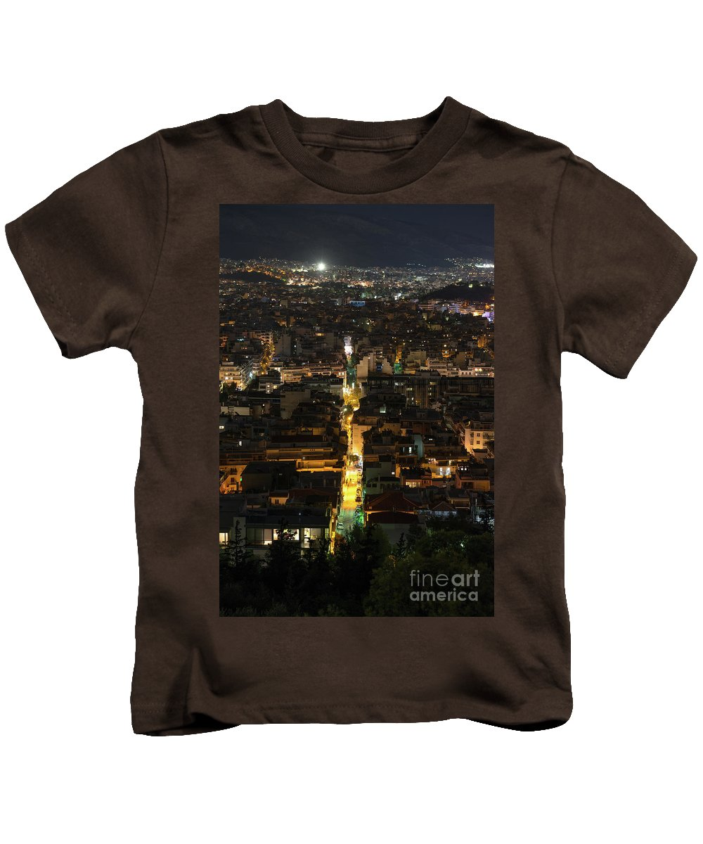Night Kids T-Shirt featuring the photograph Athens True Colors by Patrick Hoge