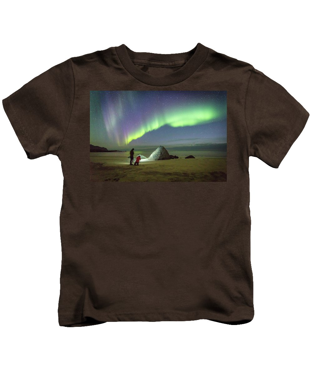 Aurora Kids T-Shirt featuring the photograph Aurora Photographers by Alex Conu