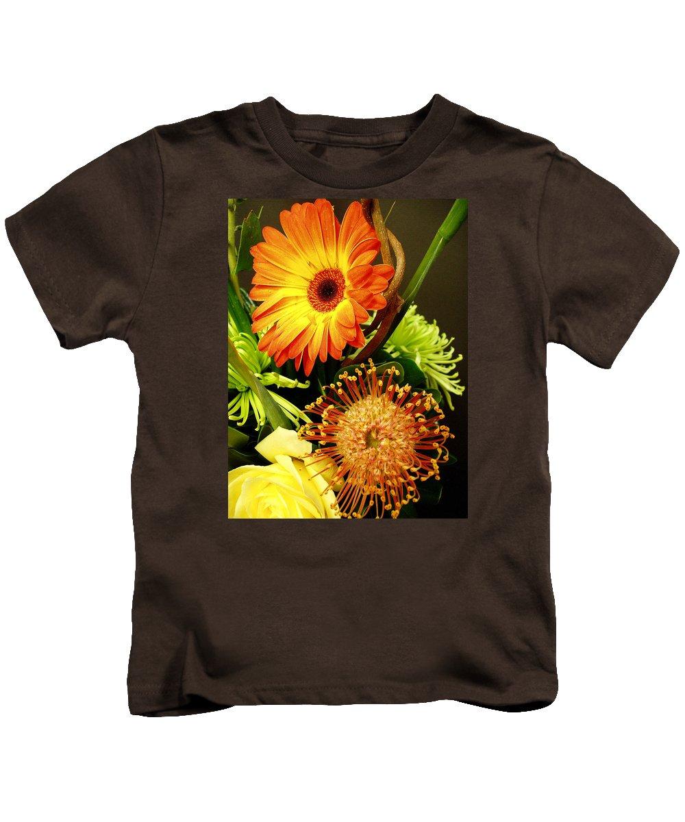 Autumn Kids T-Shirt featuring the photograph Autumn Flower Arrangement by Nancy Mueller