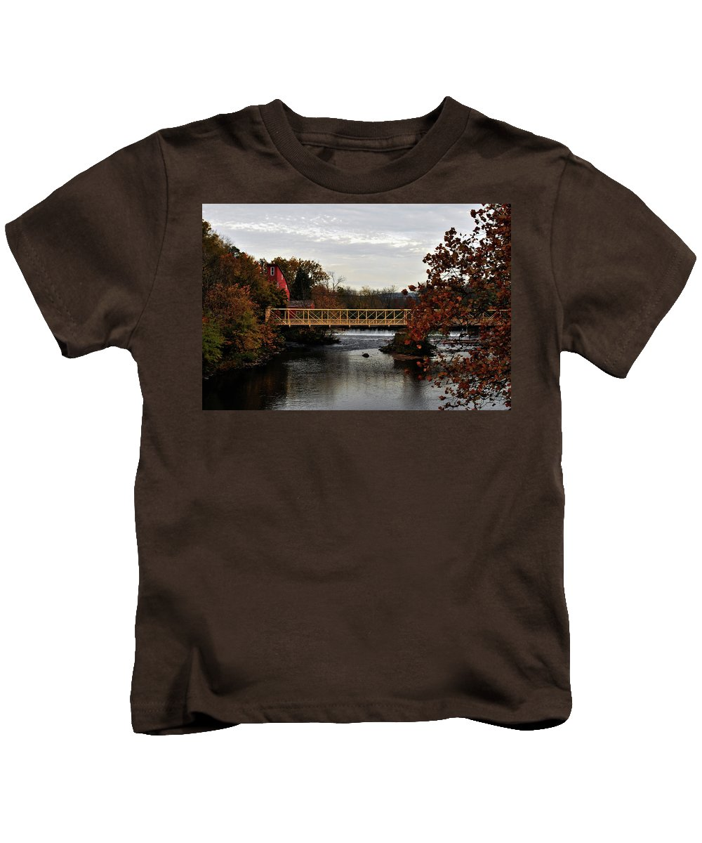 Landscape Kids T-Shirt featuring the photograph Autumn In Clinton by Lori Tambakis