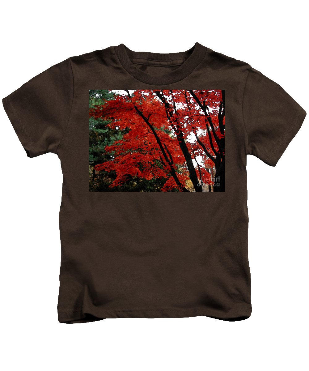Autumn Kids T-Shirt featuring the photograph Autumn In New England by Melissa A Benson