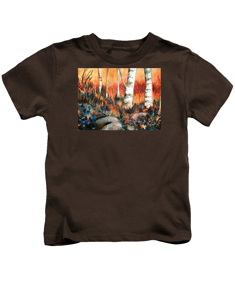 Landscape Kids T-Shirt featuring the painting Autumn by Karen Stark