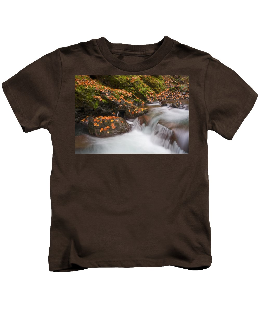 Autumn Kids T-Shirt featuring the photograph Autumn Litter by Mike Dawson