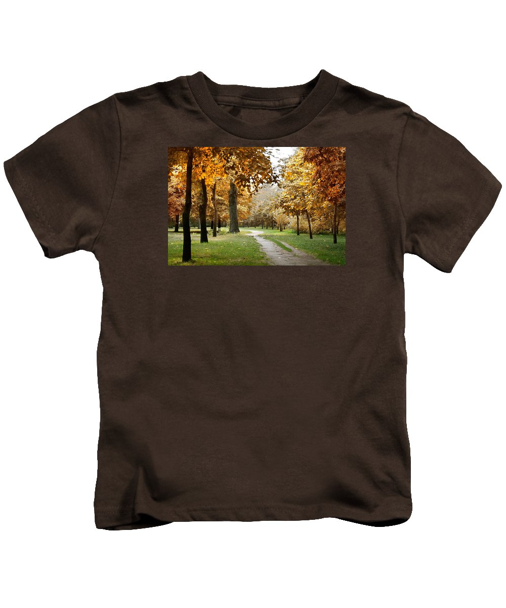 Fall Kids T-Shirt featuring the photograph Autumn by Masha Batkova