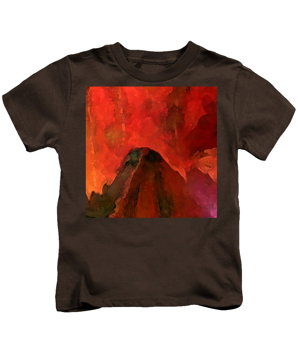 Autumn Kids T-Shirt featuring the mixed media Autumn Moods 1 by Carol Cavalaris
