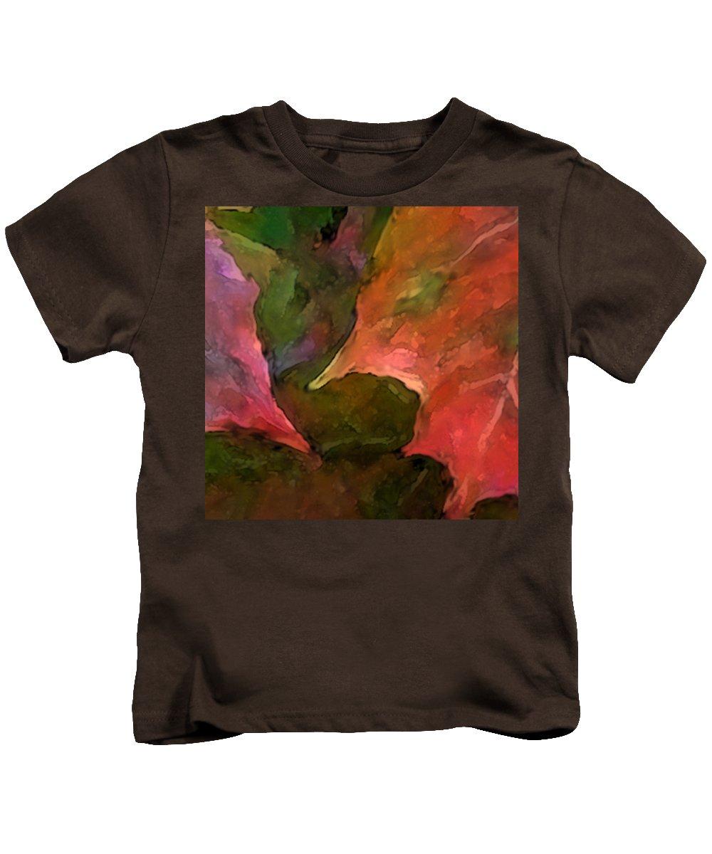 Autumn Kids T-Shirt featuring the mixed media Autumn Moods 7 by Carol Cavalaris