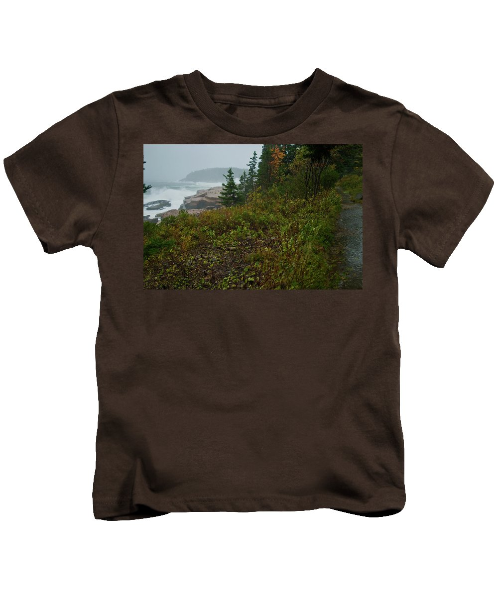 nor' Easter Kids T-Shirt featuring the photograph Autumn Nor' Easter by Paul Mangold