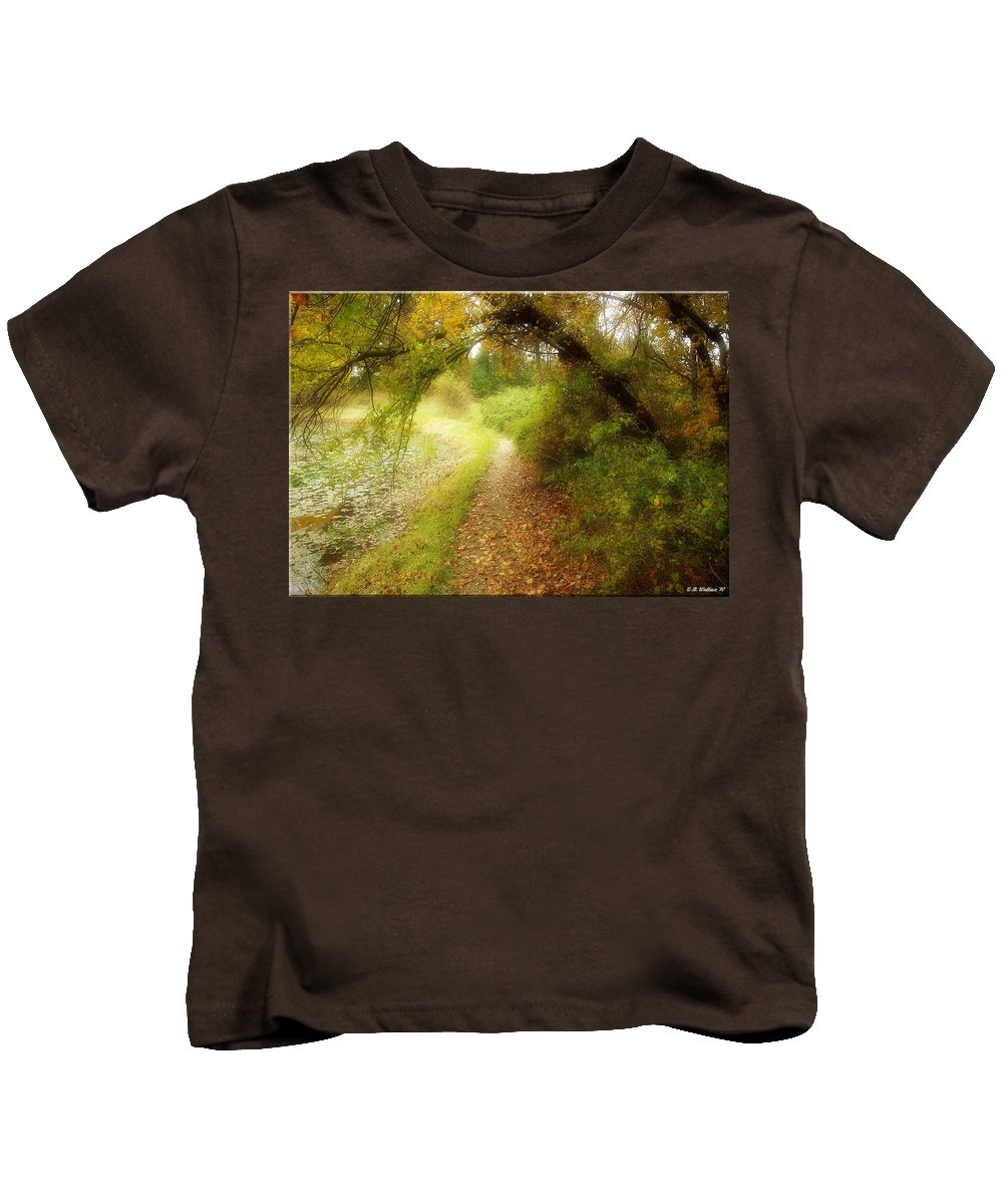 2d Kids T-Shirt featuring the photograph Autumn Path by Brian Wallace
