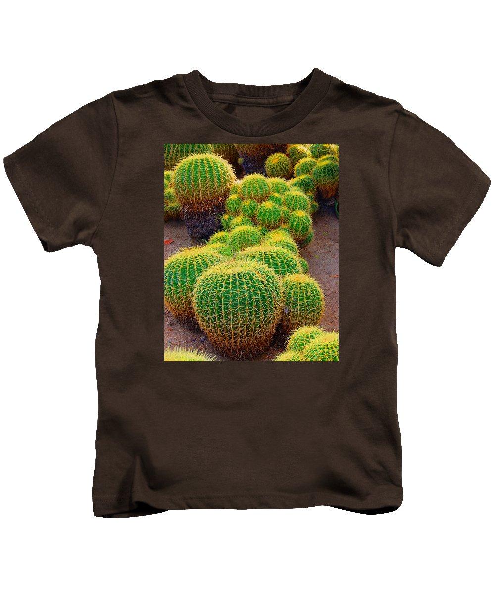 Cactus Kids T-Shirt featuring the photograph Barrel Cactus by John Malmquist