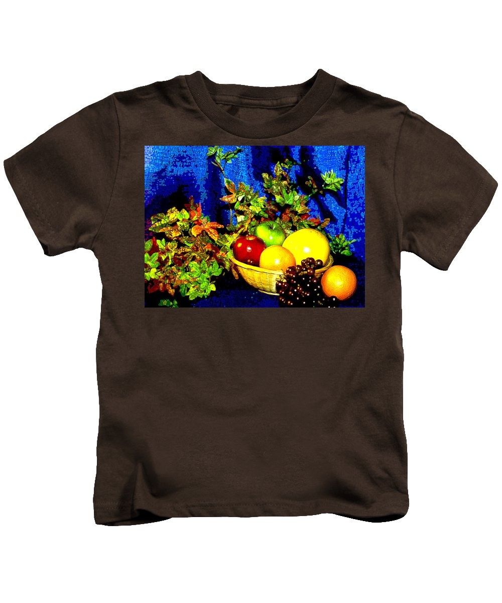 Fruit Kids T-Shirt featuring the photograph Basket With Fruit by Nancy Mueller