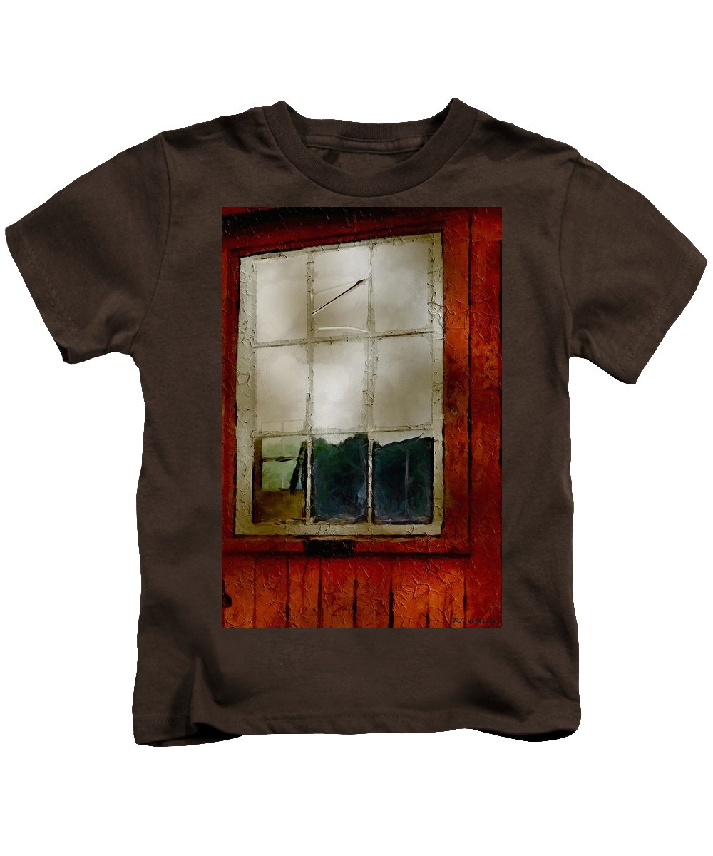 Americana Kids T-Shirt featuring the painting Battered Barn by RC DeWinter