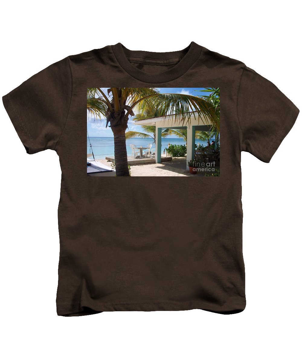 Beach Kids T-Shirt featuring the photograph Beach In Grand Turk by Debbi Granruth