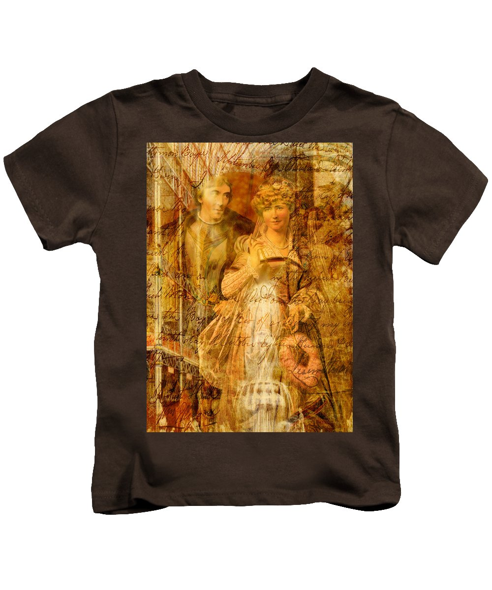 Beatrice Kids T-Shirt featuring the digital art Beatrice And Benedick by Sarah Vernon
