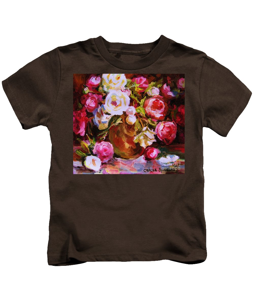 Roses Kids T-Shirt featuring the painting Beautiful Bouquet by Carole Spandau