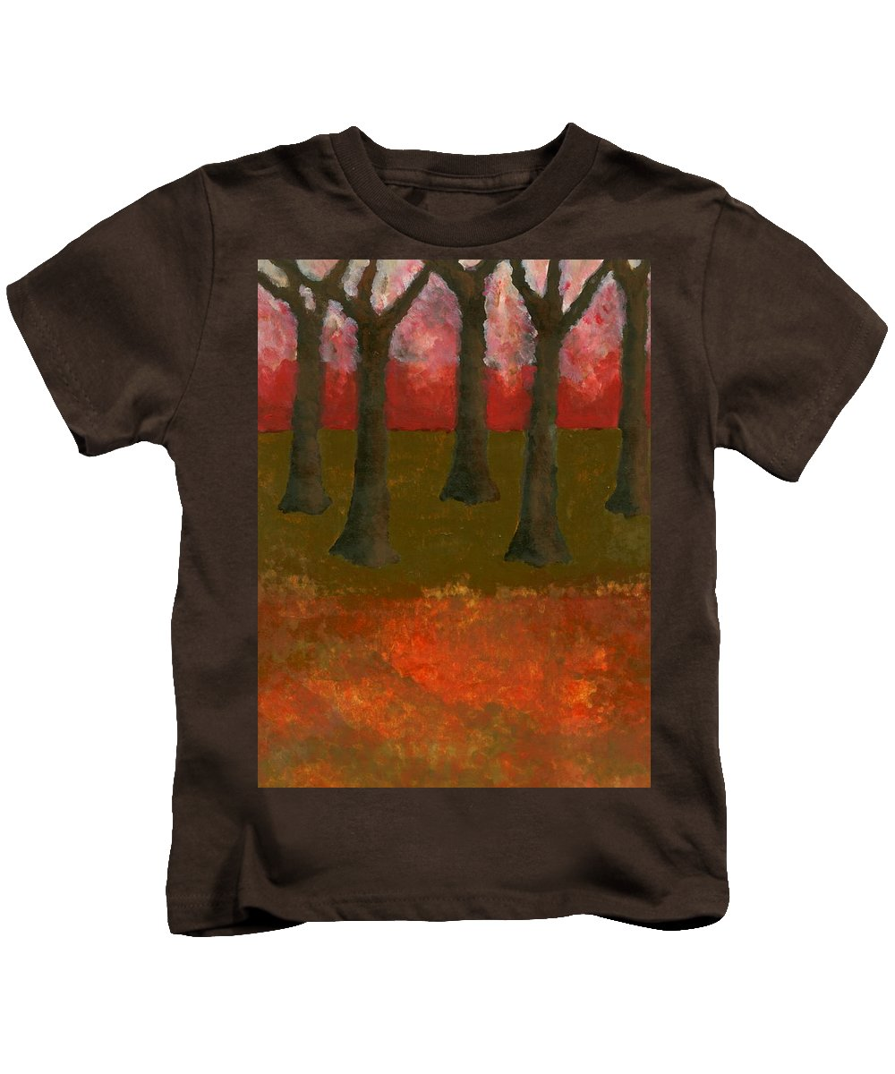 Colour Kids T-Shirt featuring the painting Before Spring by Wojtek Kowalski