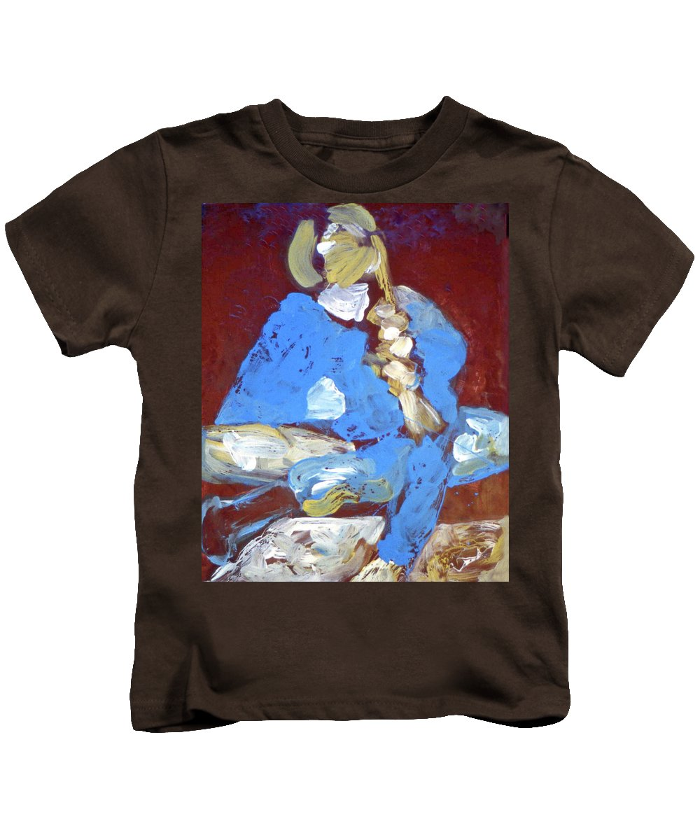 Self Portrait #1 Kids T-Shirt featuring the painting Beginner 1984 by Ethel Mann