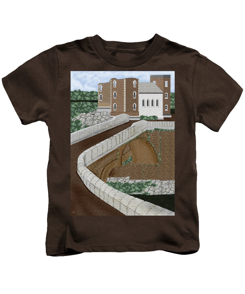 Castle Ruins Kids T-Shirt featuring the painting Beloved Ruins by Anne Norskog