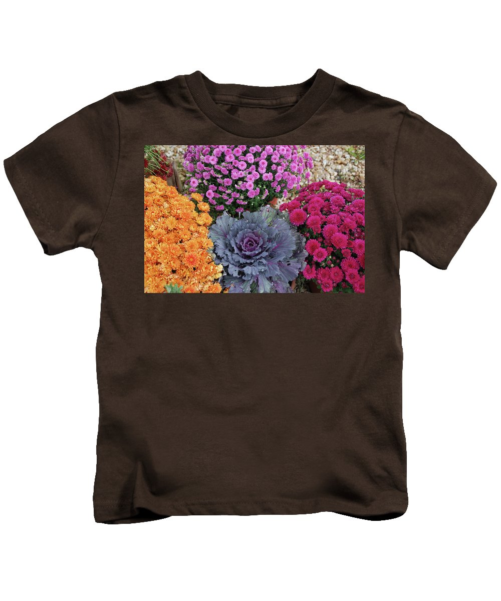 Flowers Kids T-Shirt featuring the photograph Bennington Farm 8273 by Guy Whiteley