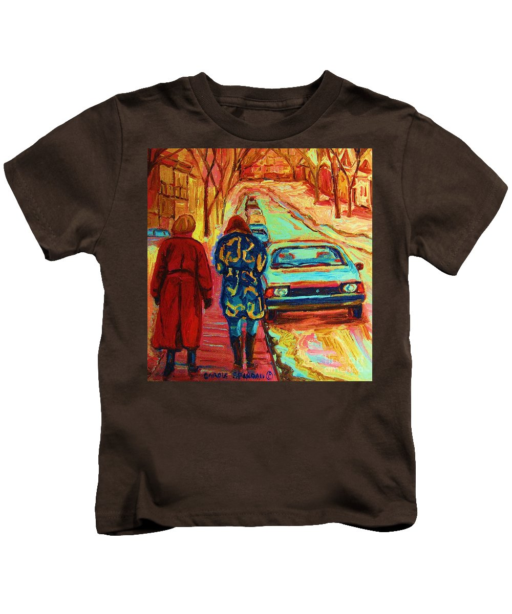 Inspirational Kids T-Shirt featuring the painting Best Friends Forever by Carole Spandau