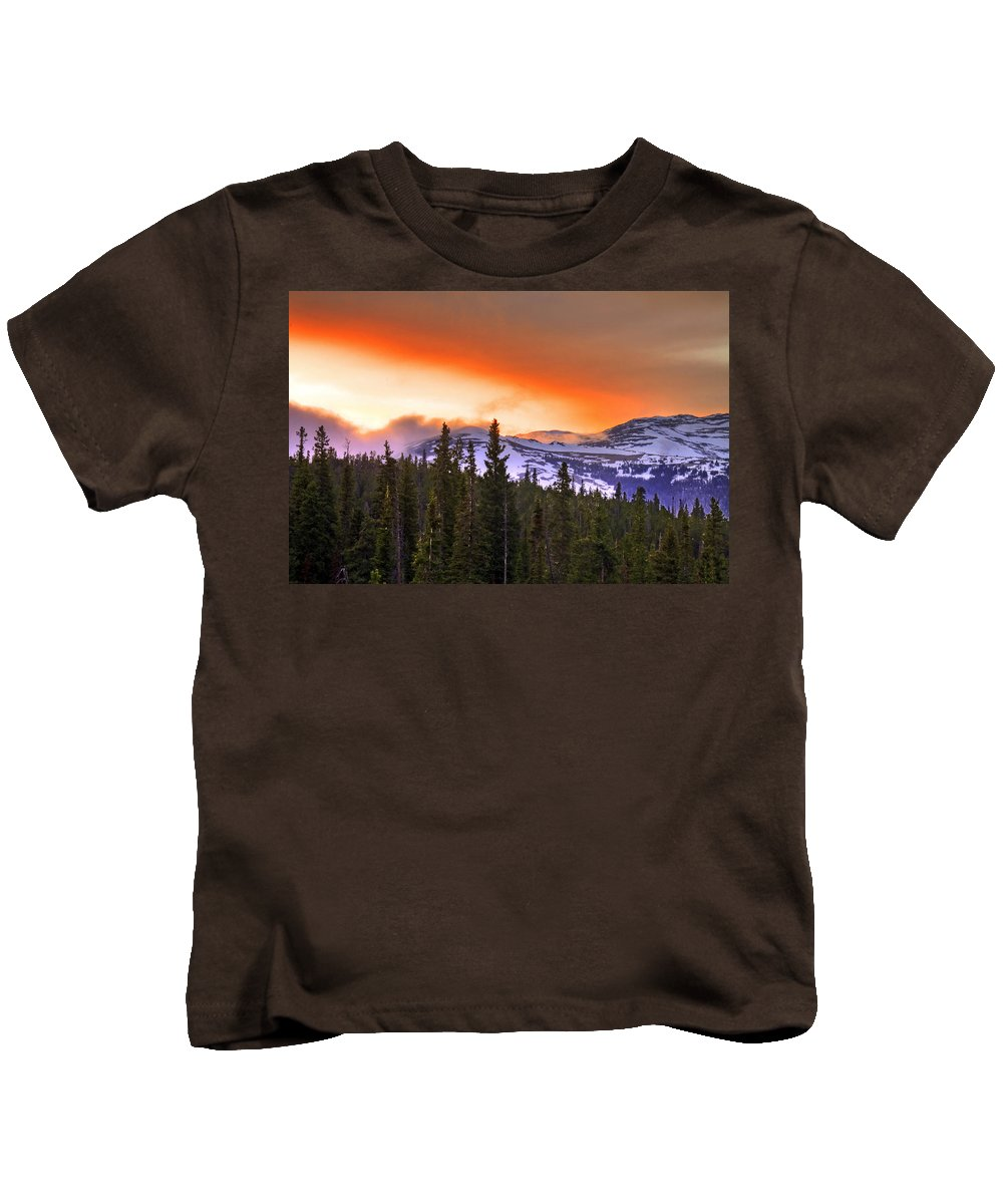 Wyoming Kids T-Shirt featuring the photograph Big Horn Sunset by Scott Mahon