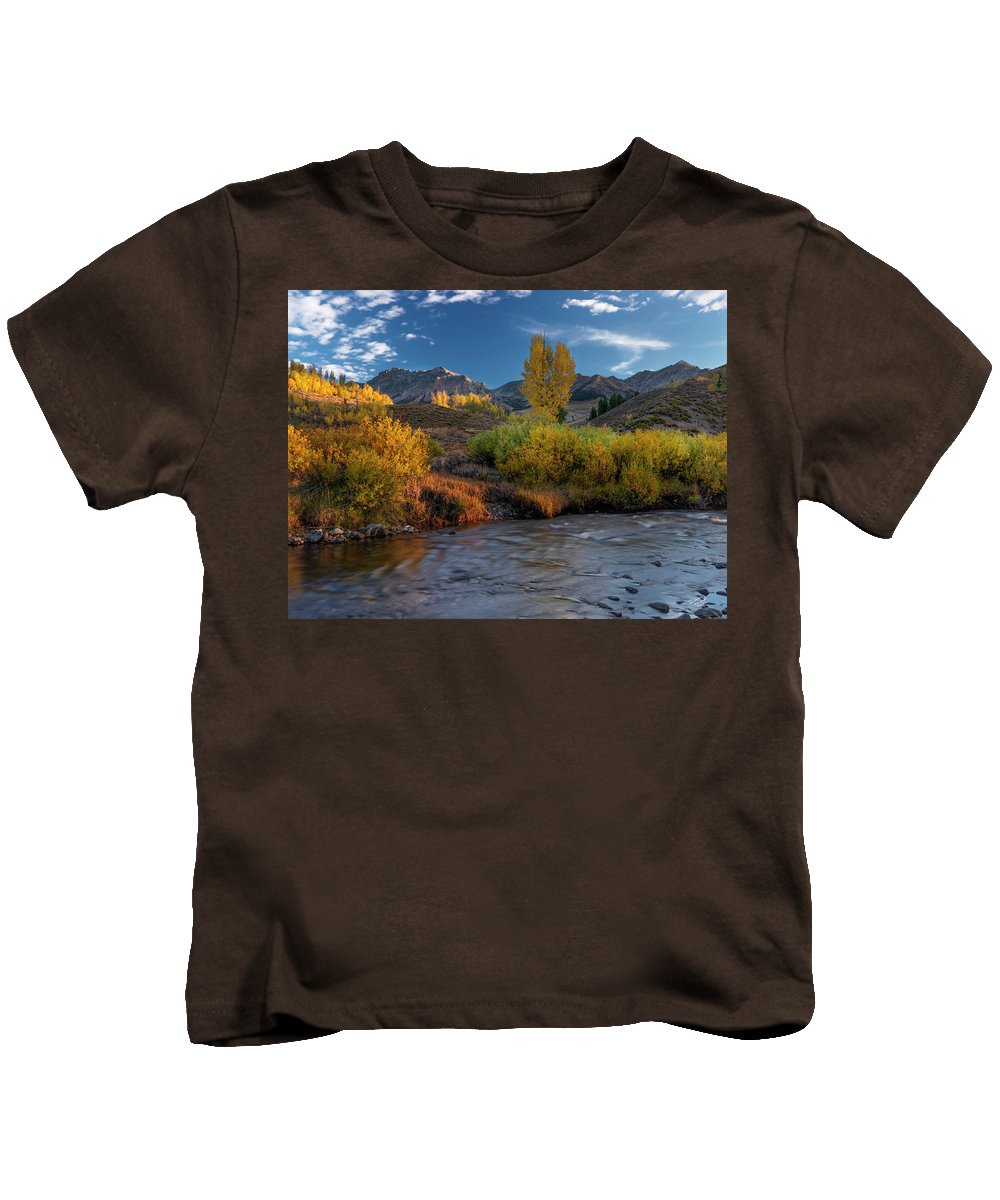 Altitude Kids T-Shirt featuring the photograph Big Wood River Color by Leland D Howard