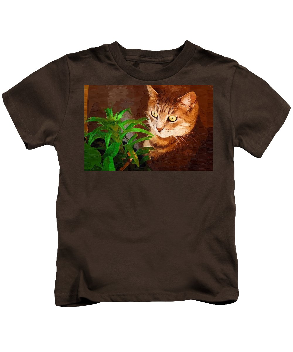 Cat Kids T-Shirt featuring the photograph Bink by Donna Bentley