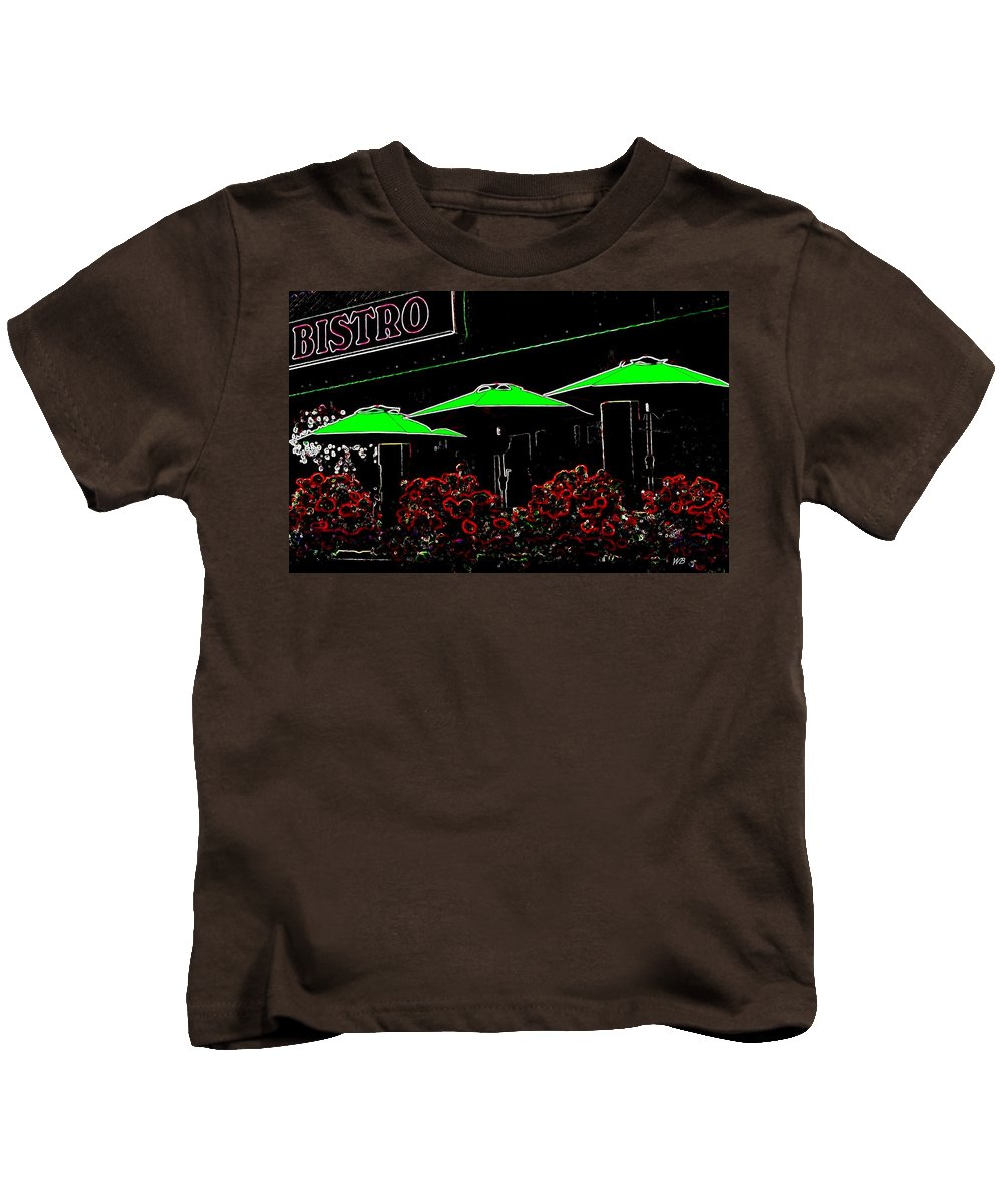 Abstract Kids T-Shirt featuring the digital art Bistro by Will Borden