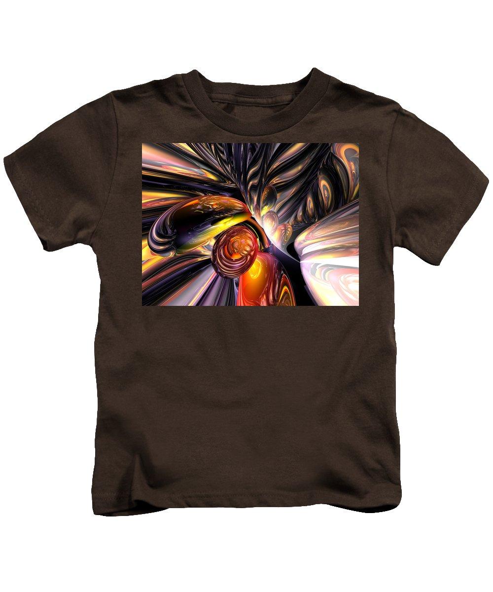 3d Kids T-Shirt featuring the digital art Blaze Abstract by Alexander Butler