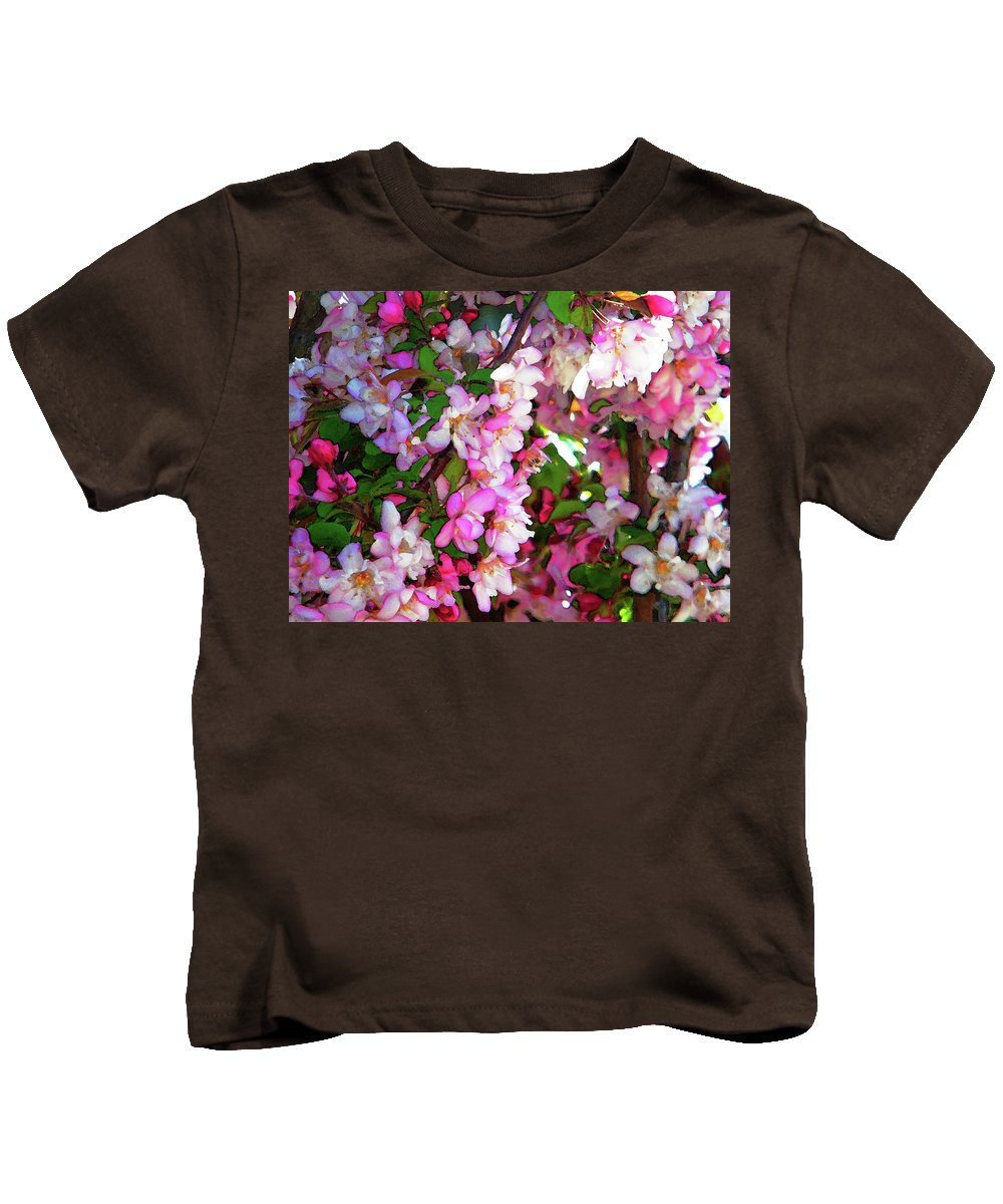 Abstract Kids T-Shirt featuring the photograph Blossoms 1 by Lenore Senior