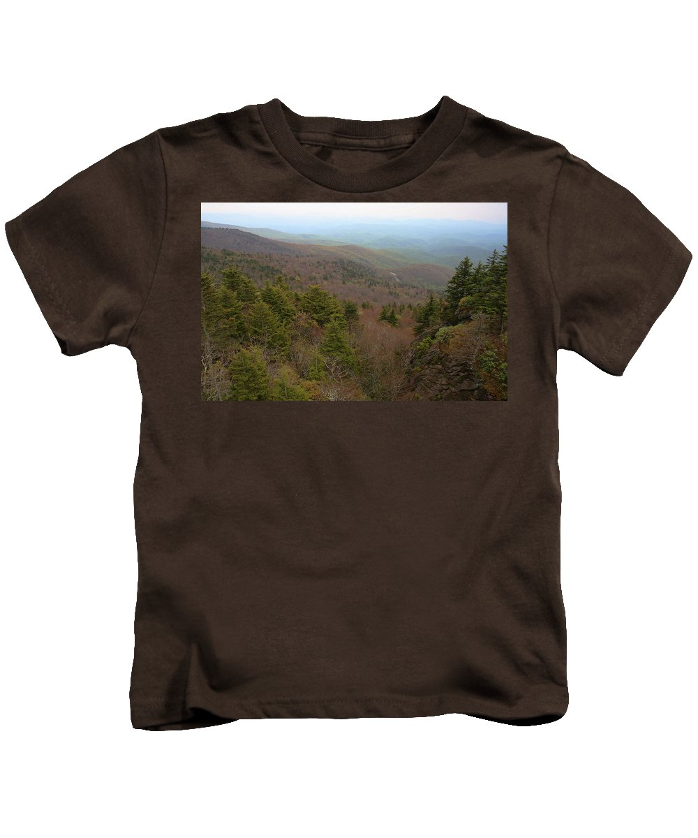 Mountains Kids T-Shirt featuring the photograph Blue Ridge View by Karol Livote