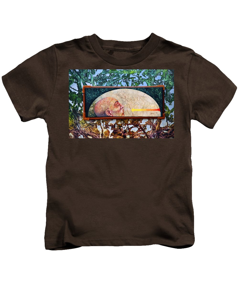 Surrealism Fantasy Fantastic Realism Decalcomania Otto Rapp The Mystic Kids T-Shirt featuring the painting Bogomil Rising by Otto Rapp