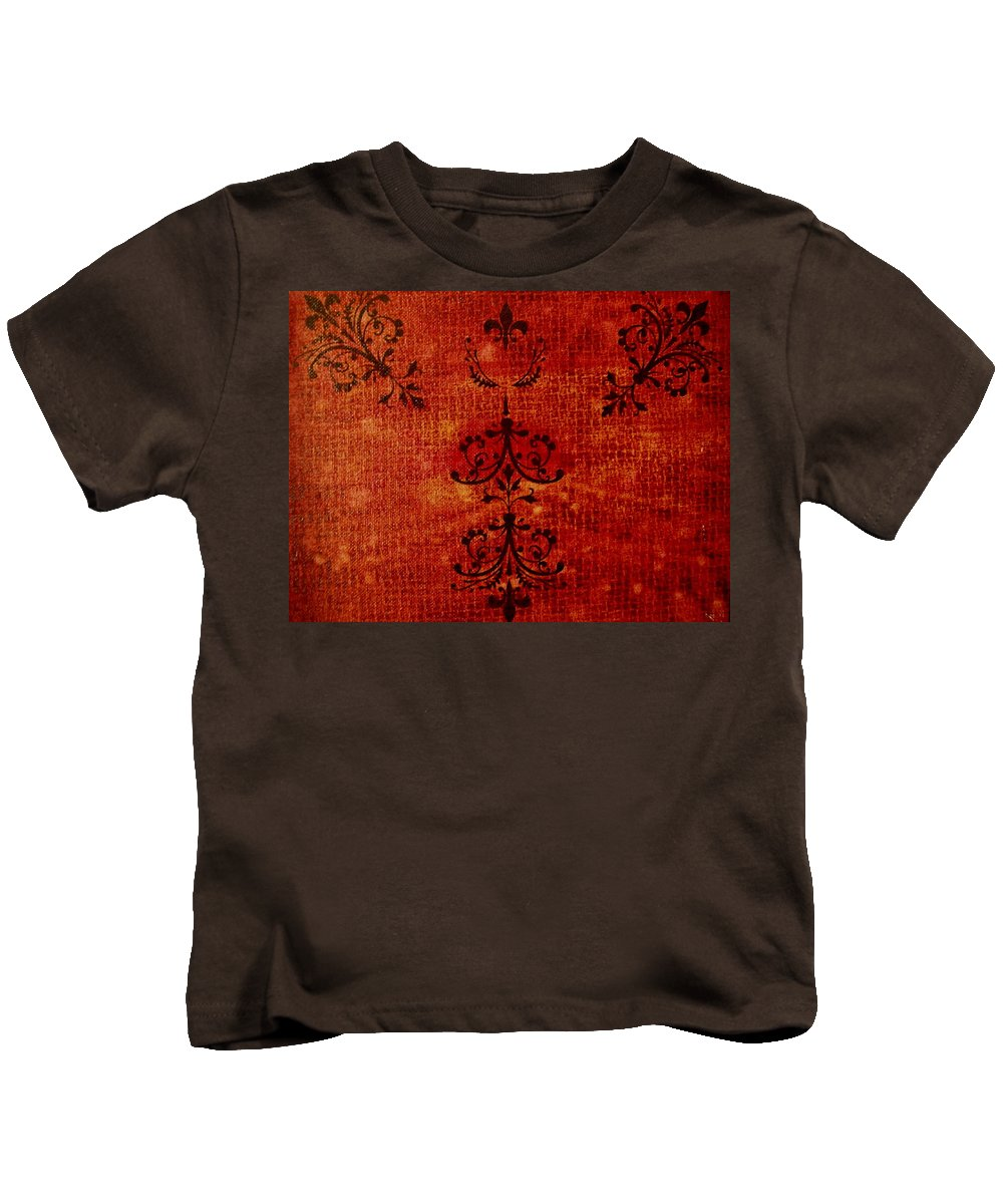 Red Kids T-Shirt featuring the painting Boudoir Three by Laurette Escobar