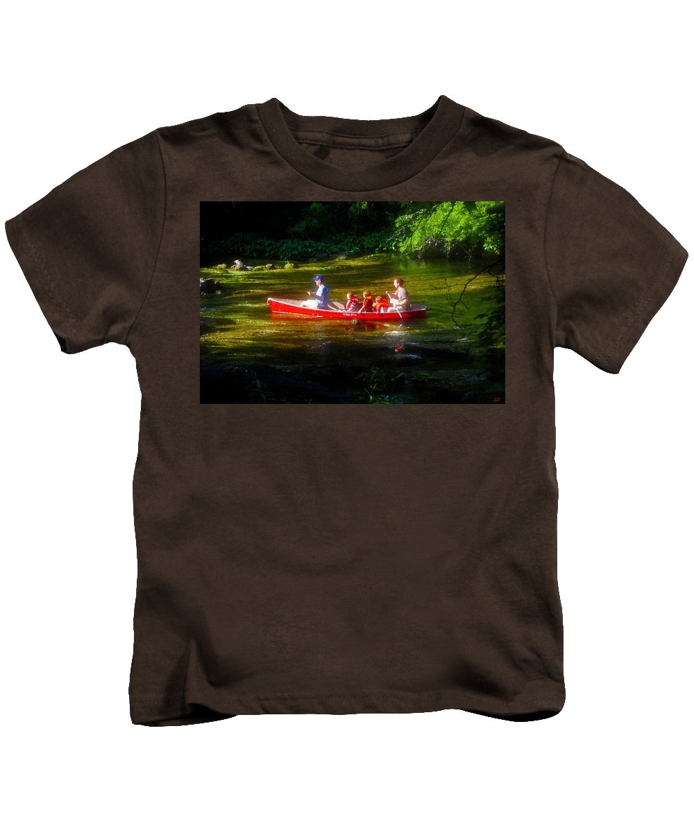Boys Kids T-Shirt featuring the painting Boy's Day Out by David Lee Thompson