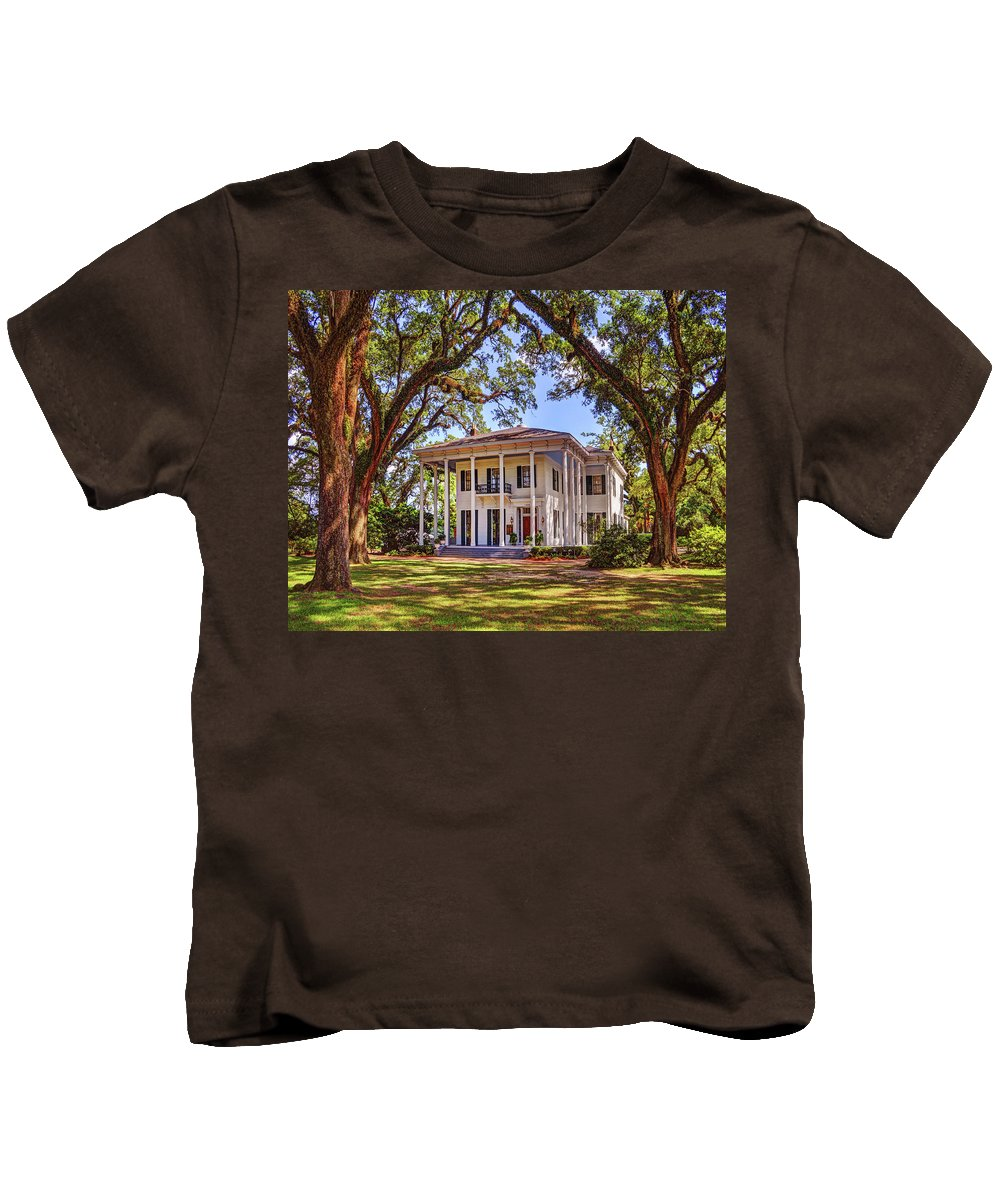 Mobile Kids T-Shirt featuring the digital art Bragg Mitchell House In Mobile Alabama by Michael Thomas