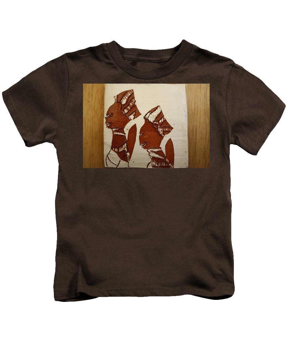 Jesus Kids T-Shirt featuring the ceramic art Brides Await - Tile by Gloria Ssali