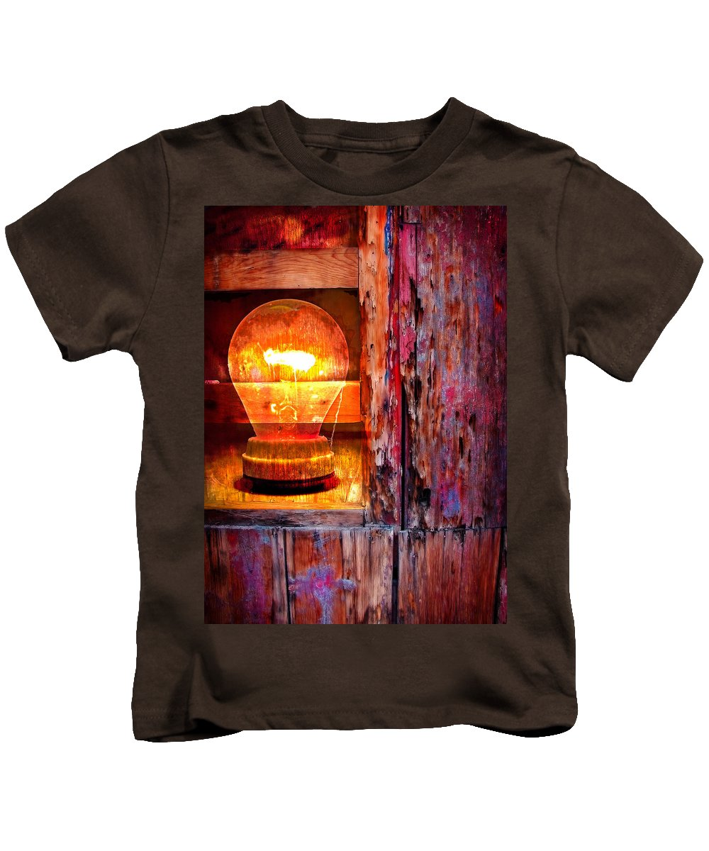 Skip Kids T-Shirt featuring the photograph Bright Idea by Skip Hunt