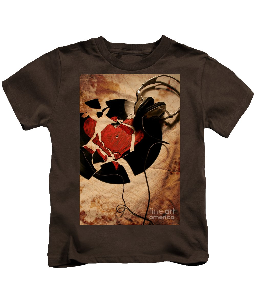 Music Kids T-Shirt featuring the photograph Broken Promises by Jason Williams