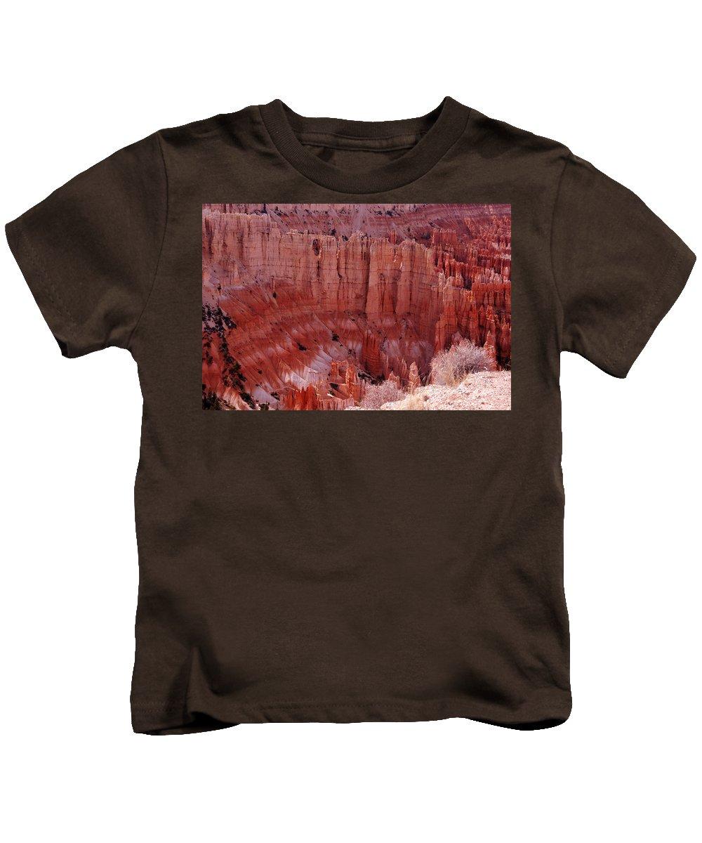 Landmark Kids T-Shirt featuring the photograph Bryce Canyon Hoodoos by Susanne Van Hulst