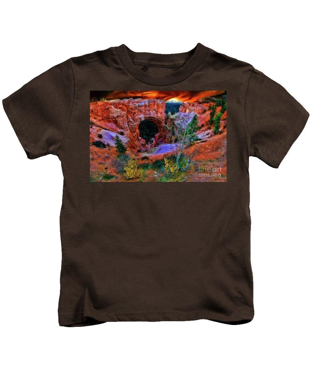 Kids T-Shirt featuring the photograph Bryce Canyon Natural Bridge by Blake Richards
