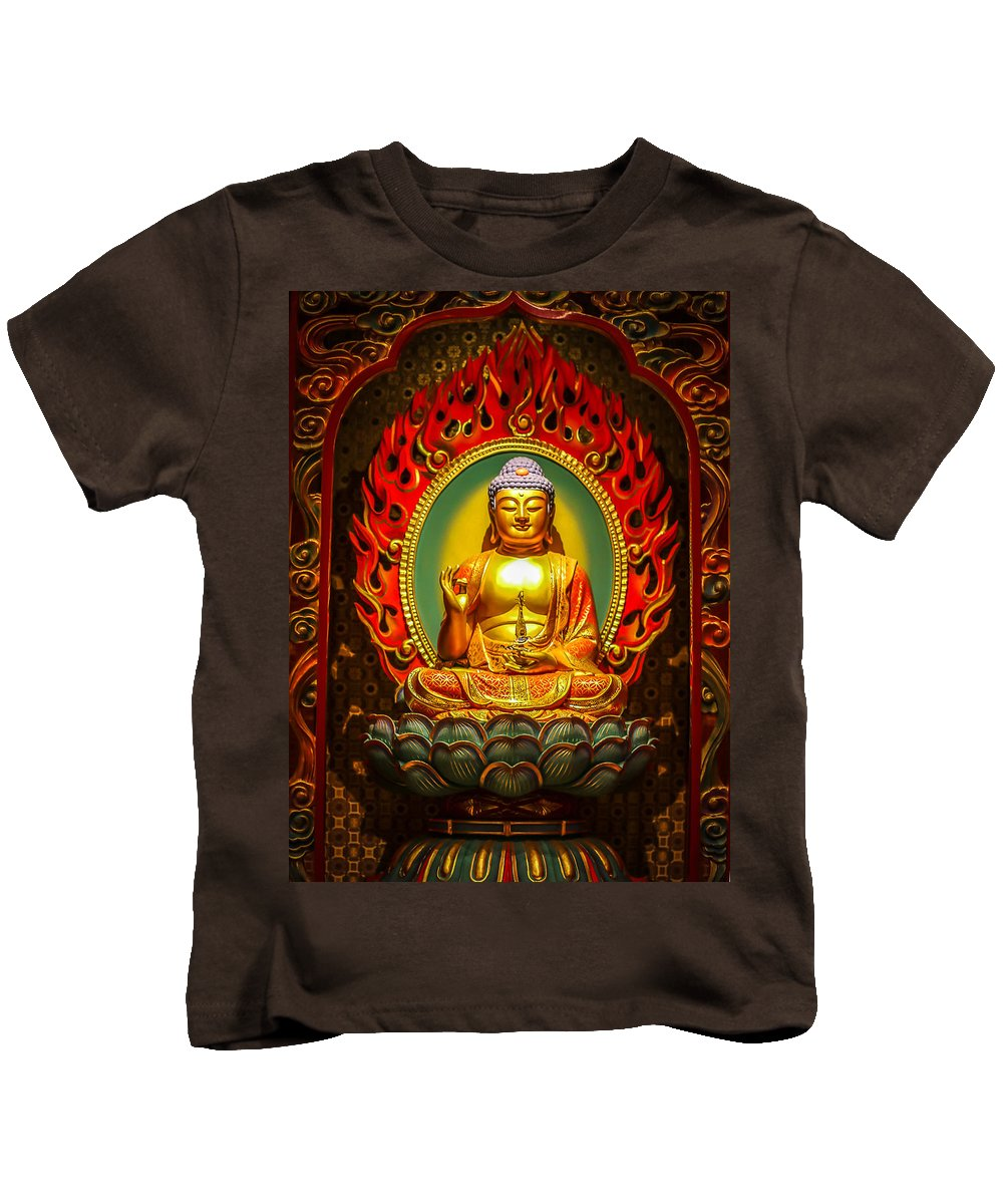Buddha Tooth Relic Temple Kids T-Shirt featuring the photograph Buddha by Valley Arora