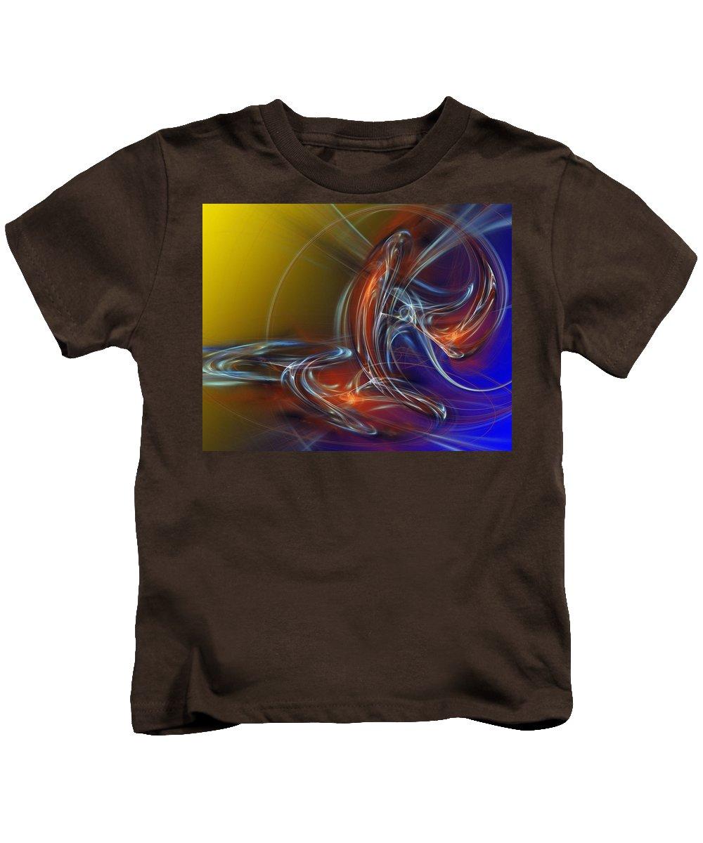 Fine Art Kids T-Shirt featuring the digital art Buddhist Protest by David Lane