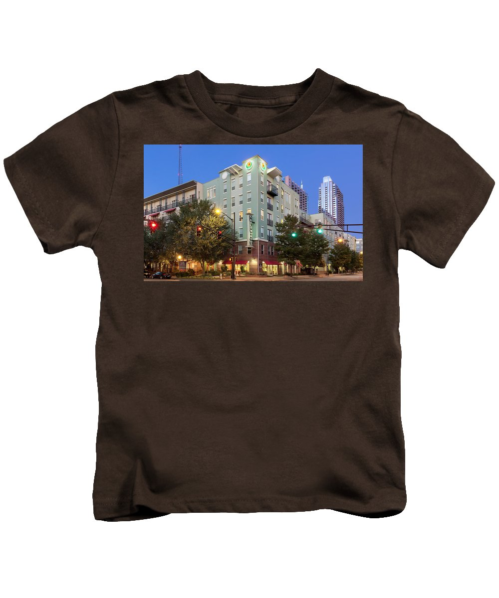 Building Kids T-Shirt featuring the digital art Building by Dorothy Binder