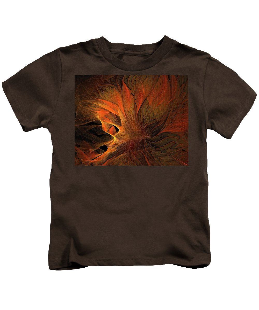 Digital Art Kids T-Shirt featuring the digital art Burn by Amanda Moore