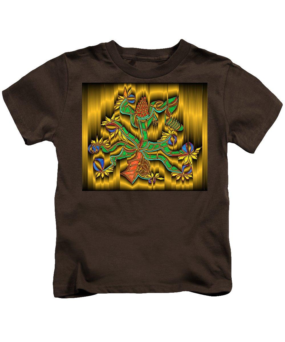 Digital Kids T-Shirt featuring the digital art Burning Bush by Mark Sellers