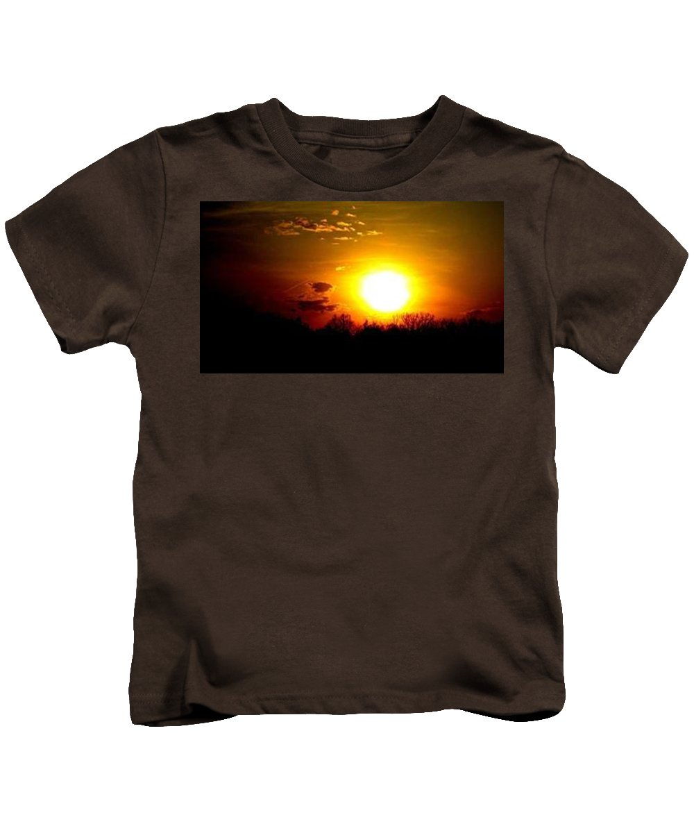 Burning Kids T-Shirt featuring the photograph Burning Sky by Belle T Broskie