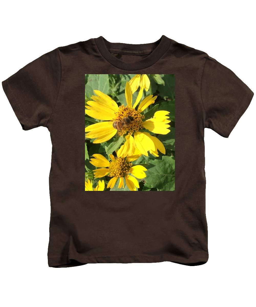 Bee Kids T-Shirt featuring the photograph Busy Bee by Nancy Cavallin