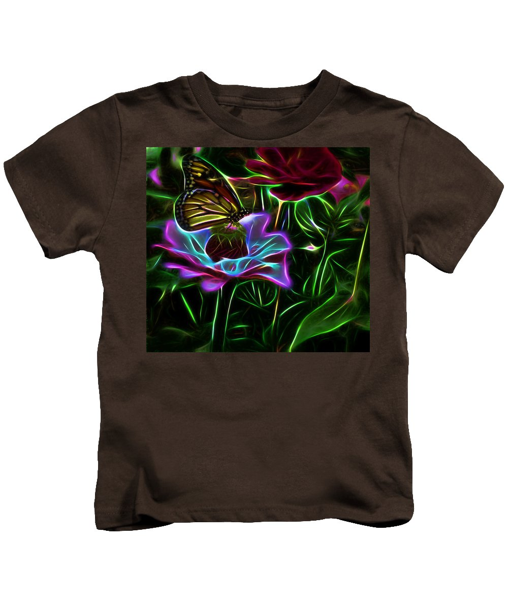 Floral Kids T-Shirt featuring the photograph Butterflies And Flowers IIi by Tina Baxter