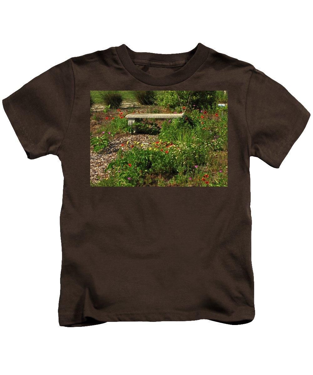 Nature Kids T-Shirt featuring the photograph Butterfly Garden by Peg Urban