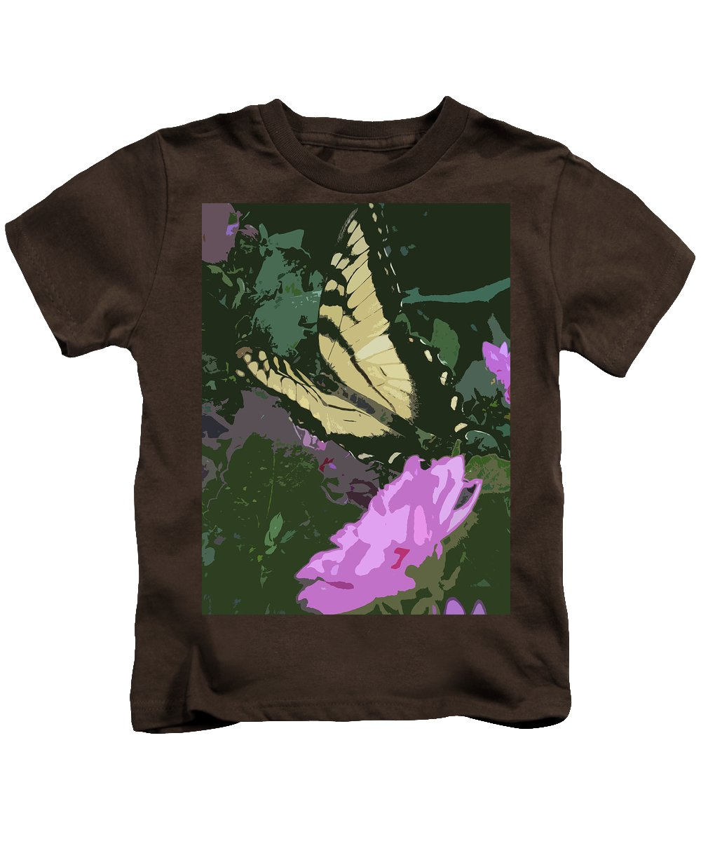 Butterfly Kids T-Shirt featuring the photograph Butterfly's Delight by Trish Tritz
