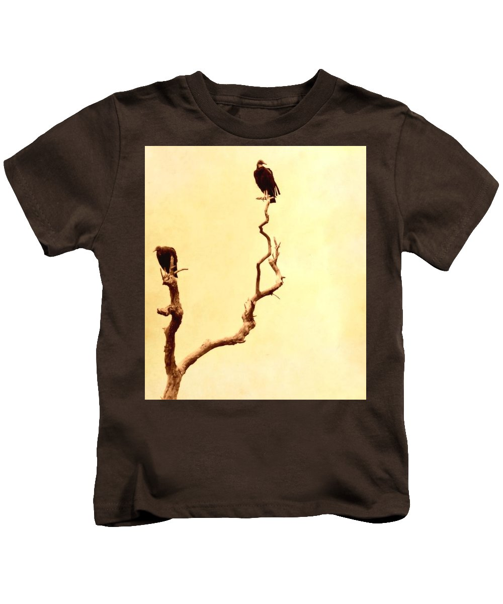 Old Tree Kids T-Shirt featuring the photograph Buzzard Art by Sherry Cloud